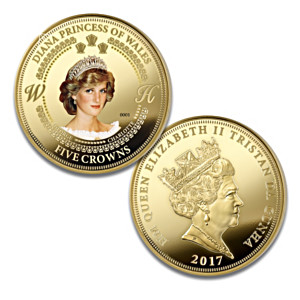 Princess Diana Commemorative Five Crowns Proof Coin