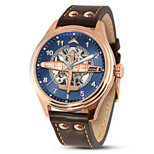 """The Dambusters"" Men's Rose Gold-Plated Mechanical Watch"