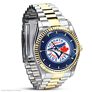 Toronto Blue Jays Commemorative Stainless Steel Watch