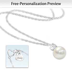 Precious Granddaughter Personalized Pendant Necklace