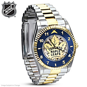 Toronto Maple Leafs® Stainless Steel Mechanical Watch