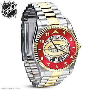 Montreal Canadiens® Stainless Steel Mechanical Watch