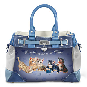"Jürgen Scholz ""Pawprints On Your Heart"" Women's Handbag"