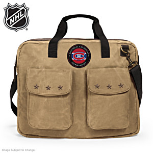 Montreal Canadiens® Canvas Messenger Bag With Logo