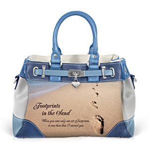 """Footprints In The Sand"" Women's Fashion Handbag"
