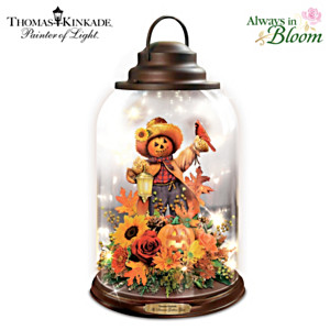 Thomas Kinkade Fall Floral Lantern With Lights And Birdsong