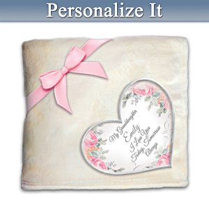 Plush Blanket Personalized With Granddaughter's Name
