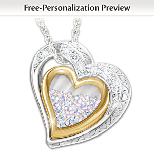 Love For All Year Daughter Necklace With 365 Crystals & Name