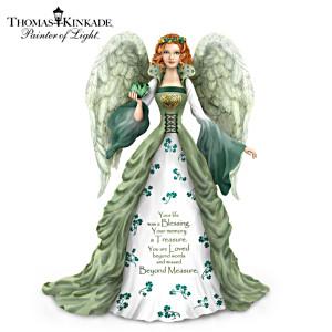 Thomas Kinkade Irish-Inspired Remembrance Angel Figurine
