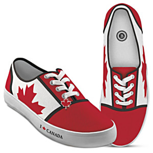 Canadian Pride Canvas Shoes With Maple Leaf Charms