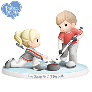 """Precious Moments """"You Sweep Me Off My Feet"""" Curling Figurine"""