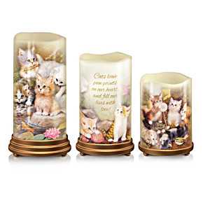 Jürgen Scholz Kitten Art Flameless Candle Set