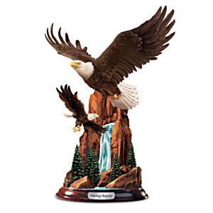 """Soaring Summit"" Eagle Sculpture"