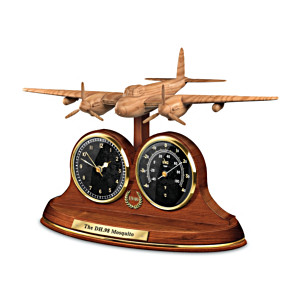 The WWII Mosquito Bomber Tribute Thermometer And Clock