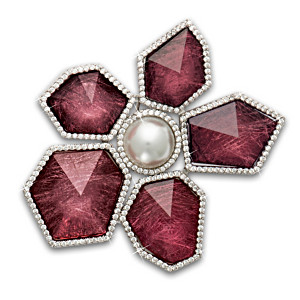 Royal Jewellery-Inspired Flower Brooch With Cultured Pearl