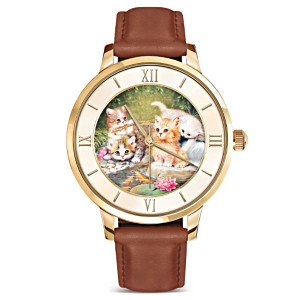 "Jürgen Scholz ""Pawprints On Your Heart"" Women's Watch"