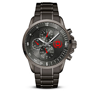 """We Will Remember"" Men's Stainless Steel Chronograph Watch"