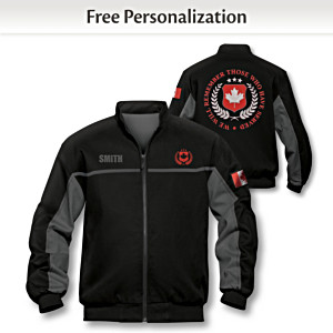 Canadian Heroes Personalized Men's Woven Twill Jacket