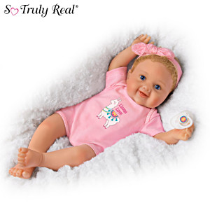 """Ping Lau """"Llama Love"""" Vinyl Baby Doll With Custom Outfit"""