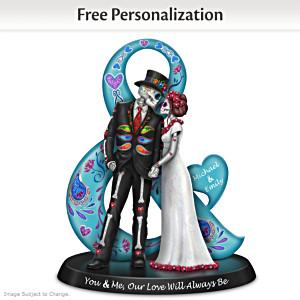 Blake Jensen Romantic Sugar Skull Figurine With 2 Names