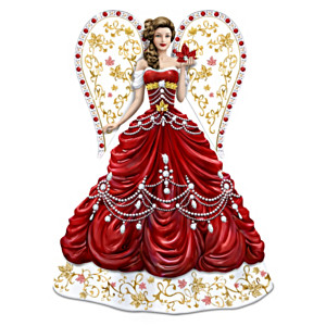 Guardian Angel Figurine With Over 90 Swarovski Crystals