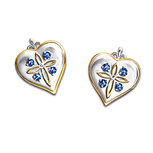 """Blessed Daughter"" Diamond And Sapphire Earrings"