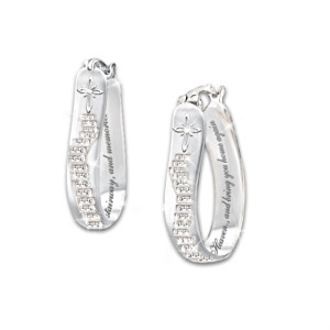 """Always In My Heart"" Bereavement Diamond Earrings"