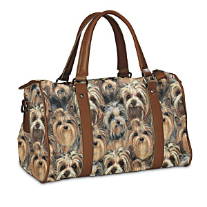 Breed-Specific Satchel-Style Tapestry Dog Lover's Handbag