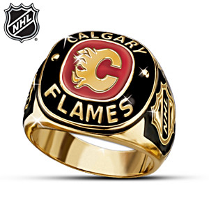 NHL® Calgary Flames® Solid Sterling Silver Ring