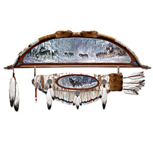 Wolf Art Bow And Arrow Replica Wall Hanging Collection