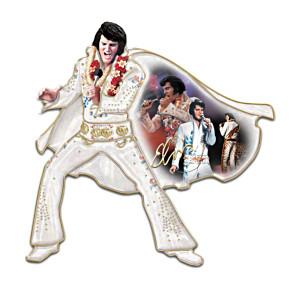 Vegas-Era Elvis Porcelain Wall Sculptures With Montage Art