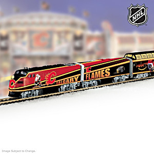 """Calgary Flames® Express"" Illuminated Electric Train"