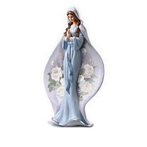 Floral Art Virgin Mary Porcelain Figurine Collection