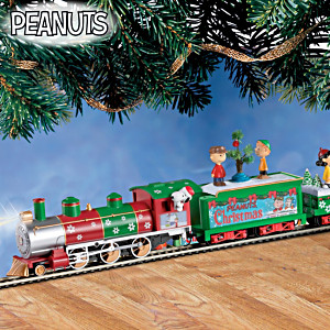 """HO-Scale """"Peanuts"""" Illuminated Electric Christmas Train"""