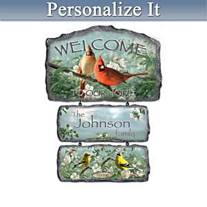 Songbird Art Seasonal Plaques With Welcome Display