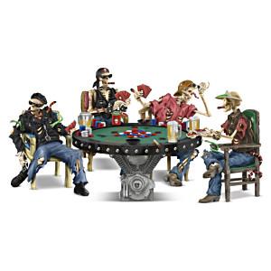 """Crypt Poker"" Skeleton Figurine Collection"
