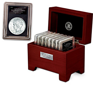 The Complete U.S. Peace Silver Dollar Collection And Display