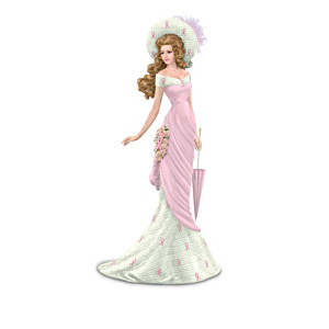 Breast Cancer Support Victorian-Style Figurine Collection