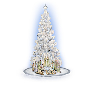 """Heavenly Blessings"" Illuminated Christmas Tree And Nativity"