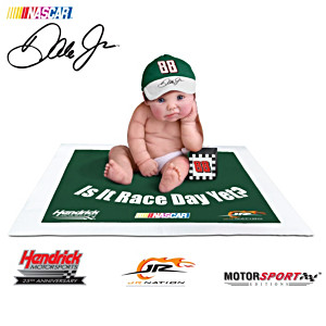 "Officially Licensed ""Dale Jr. #1 Fan"" Baby Doll Collection"