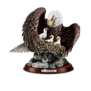 """Noble Guardians"" Lifelike Eagle Family Sculpture Collection"