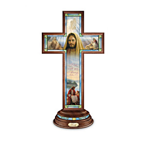 Greg Olsen Lighted Stained-Glass Crosses With Scripture