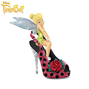 "Tinker Bell Totally Cute As A Bug"" Shoe Figurine Collection"