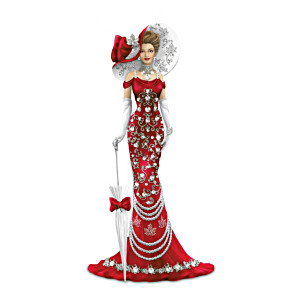 Canadian Pride Lady Figurines With Swarovski Crystals