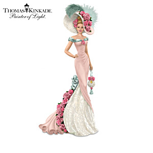 "Thomas Kinkade ""Roses In Bloom"" Lady Figurine Collection"