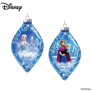 Disney FROZEN Heirloom Glass Ornament Collection