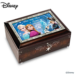 Disney FROZEN Mahogany-Finished Music Box Collection