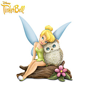 """Disney Tinker Bell """"Owl Always Love You"""" Figurine Collection"""