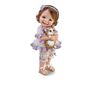 "Jane Bradbury ""Fur-ever Friends"" Child Doll Collection"