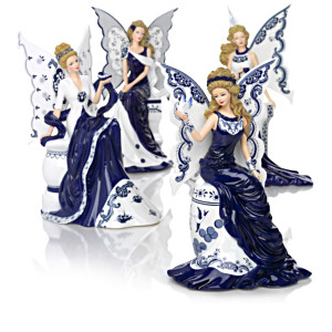 """Magic Of Blue Willow"" Angel Figurine Collection"